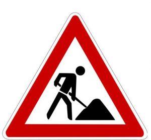 Verkehrszeichen Verkehrsschild Baustelle